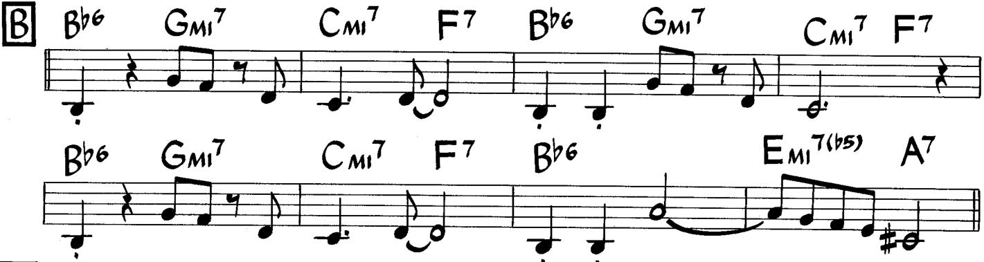 Gerry Mulligan Bernie's Tune parte B