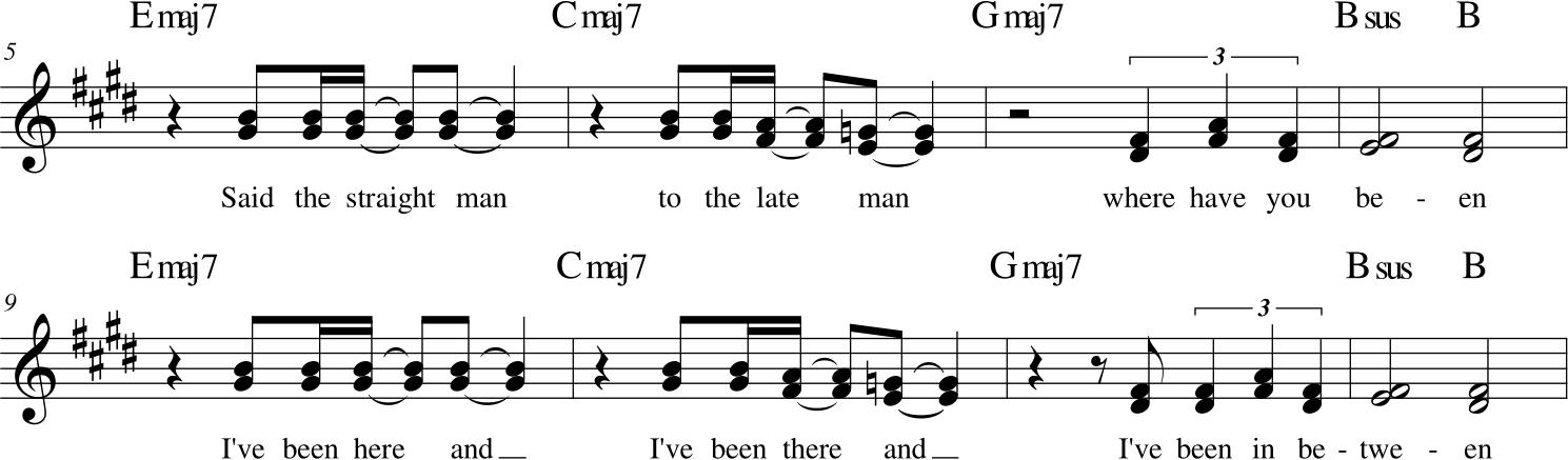 King Crimson - I Talk To the Wind - strofa