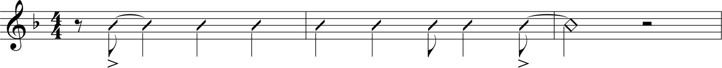 Un pattern ritmico ricorrente nell'accompagnamento di Wynton Kelly