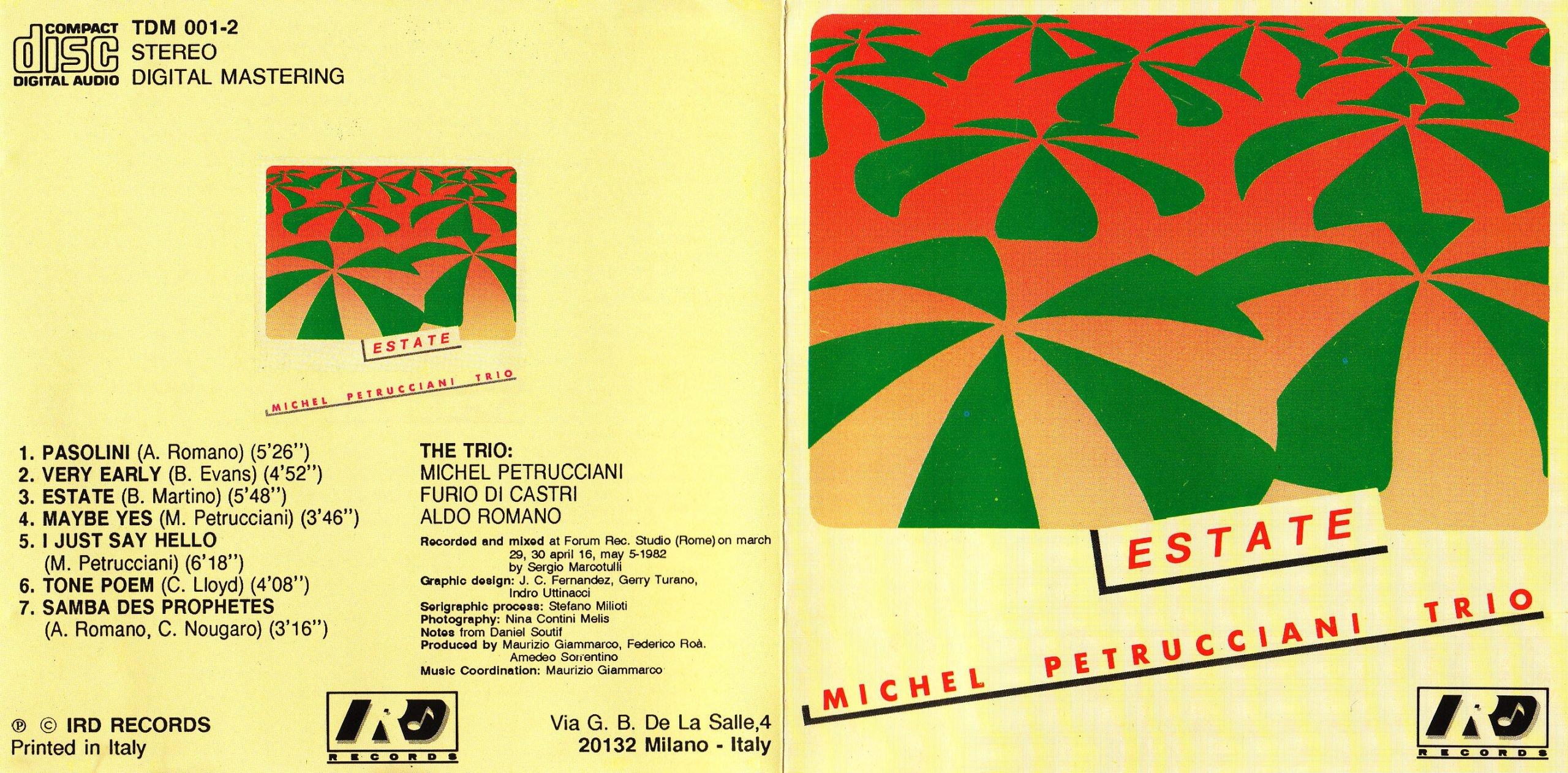 Estate - Michel Petrucciani booklet