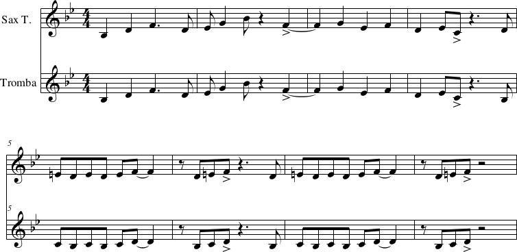 Thelonious Monk Rhythm-a-ning, esposizione del tema